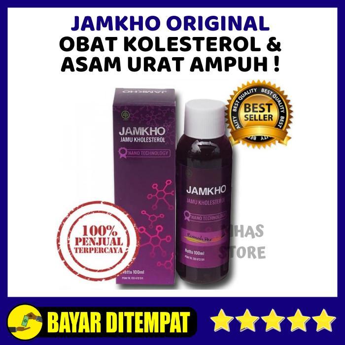 Obat Kolesterol JAMKHO Original BPOM 100ml - Jamu Kolesterol Herbal - Jamu Herbal Kholesterol - Jamu