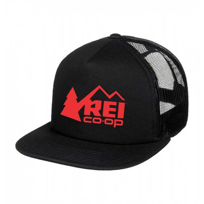 Topi Jaring Trucker Hat Rei Co Op Outdoor Black-Dear Aysha