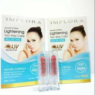 IMPLORA Lightening Two Way Cake All In One FREE Lipstick Mini - 12.5 Gr thumbnail