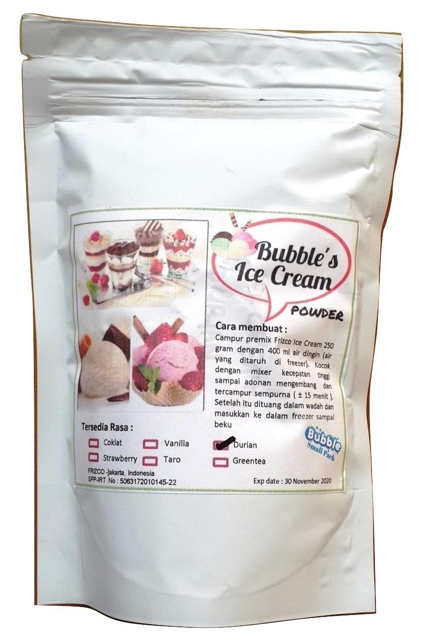 Durian Ice Cream Powder 250gr Bubuk Es Krim Frizco Duren Orimoto Mart By Ori Moto Mart.