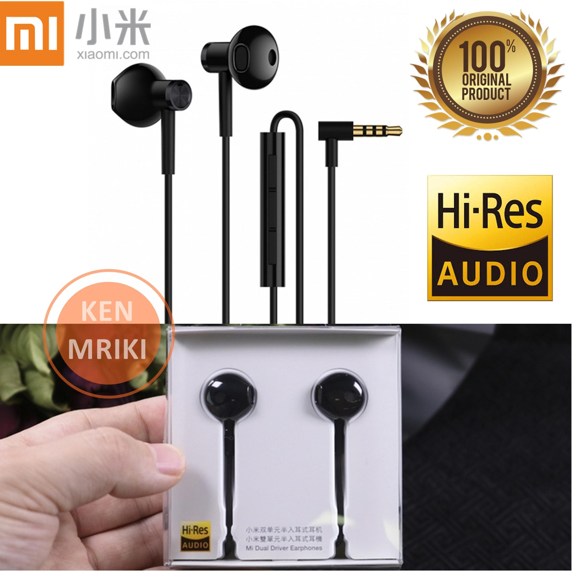 Headset / Earphone / Handsfree Hybrid Dual Driver Earphone Hi-Res Audio L-Plug 3.5mm Compatible XIAOMI / SAMSUNG / OPPO - Hitam