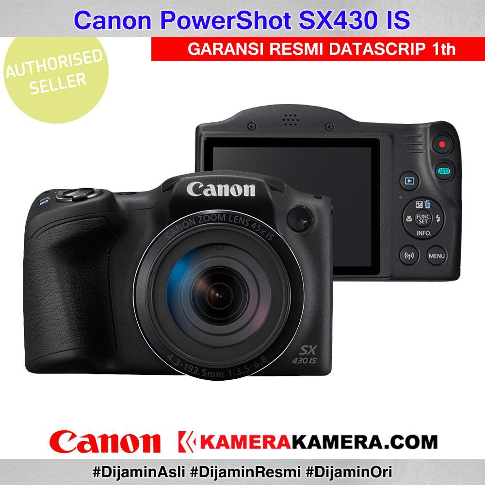 Canon PowerShot SX430 IS WiFi 20MP 45x Optical Zoom Prosumer Camera Canon SX430 - Garansi Resmi Datascrip 1th