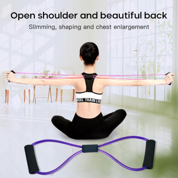 Hikystore Yoga Dây, Dây Mở Rộng Ngực 8 Chữ Kháng Lực Tập Cơ Thể Dục Bằng Kẹo Cao Su Yoga Dây Thun Cao Su Tập Luyện Thể Hình Cơ Bắp Đối Với Tập Thể Dục Thể Thao