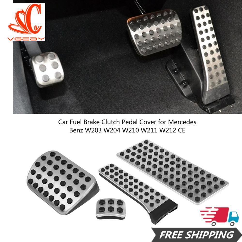4 Pcs Bahan Bakar Mobil Kopling Rem Sarung Pedal untuk Mercedes Benz W203 W204 W210 W211 W212 CE