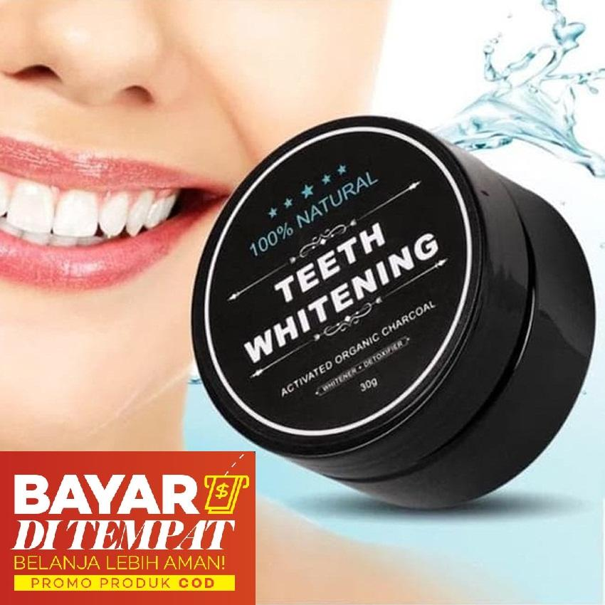 Yangunik Pemutih Gigi Alami Teeth Whitening Charcoal Powder 30gr By Yangunik.