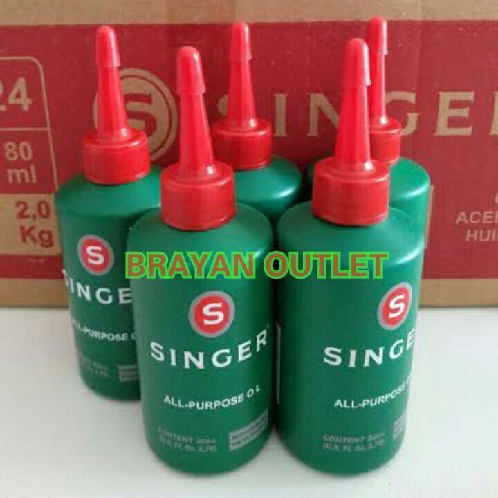 BRAYAN OUTLET - 5 Botol Minyak Pelumas Mesin Jahit  merk  SINGER PURPOSE OIL Lazada Spesial Harga Promo Best Seller BrayanOutlet