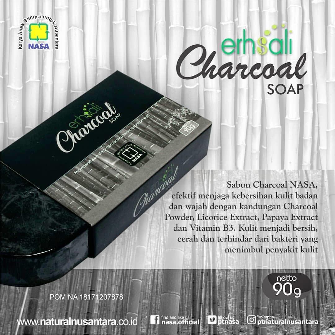 Erhsali Charcoal Soap By Kawashima Store.