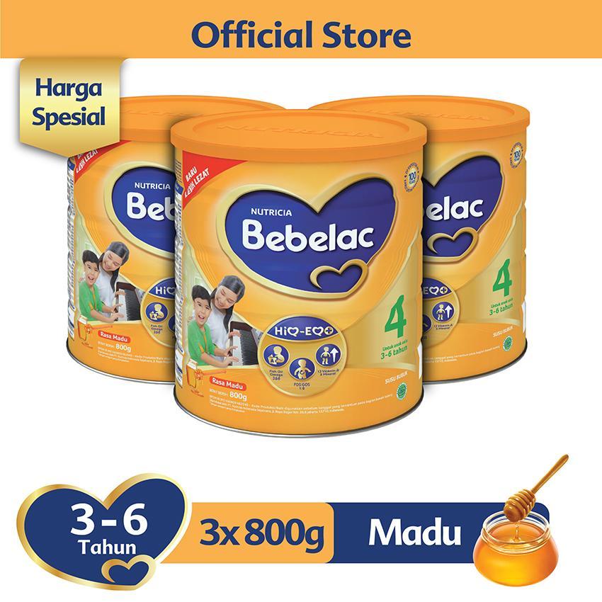 Bebelac 4 Hiq-Eq Madu 800 Gr - Bundle Isi 3 Kaleng - Susu Pertumbuhan By Lazada Retail Bebelac.