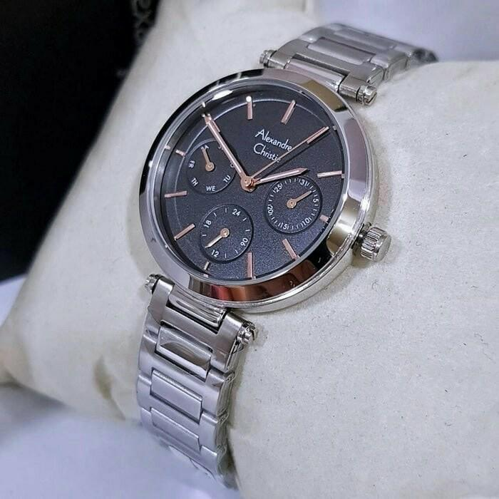 ALEXANDRE CHRISTIE AC 2700 WANITA MULTIFUNGTION SILVER BLACK ORIGINAL