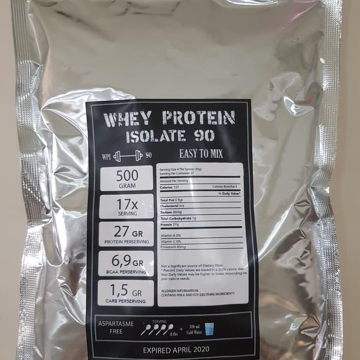 Whey Protein Isolate Wpi 90 500gram Serious Mass Gold Standard By Click Healthy.