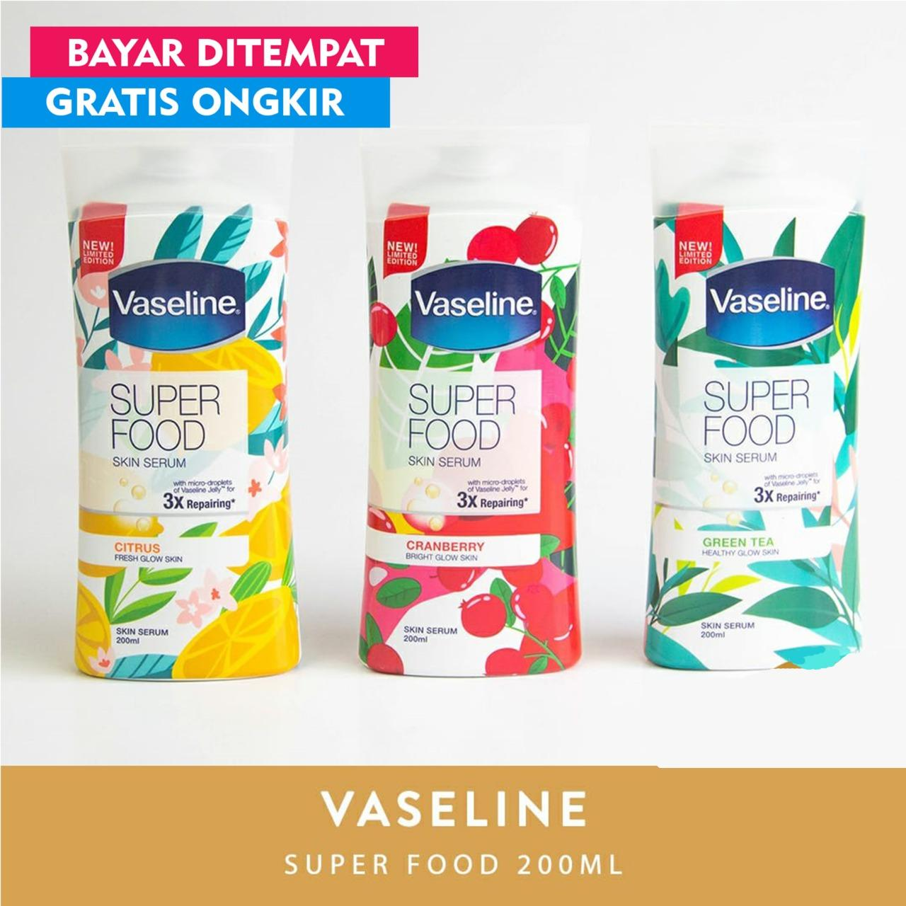 Vaseline Super Food Serum Body Lotion 200ml - Xaiver