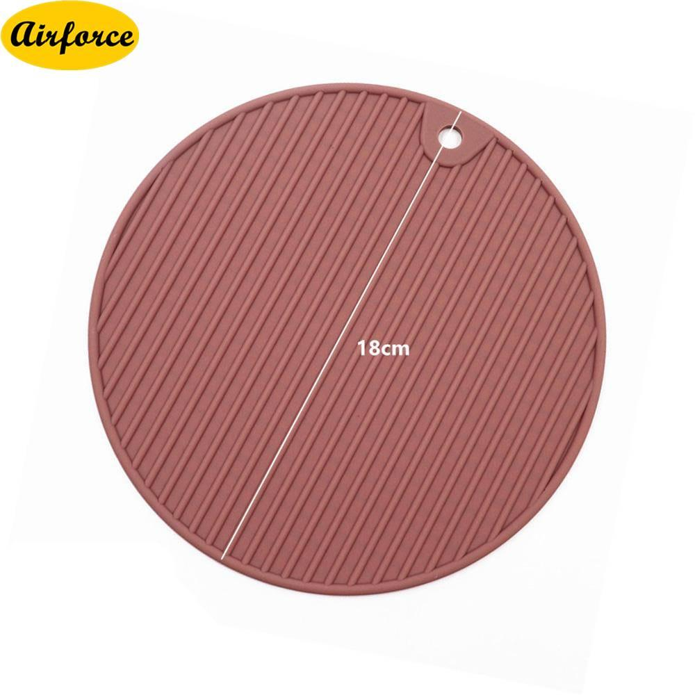 Airforce Silicone Drink Coaster Insulation Anti-Scalding Non-Slip Mug Glass Beverage Round Pad Mat