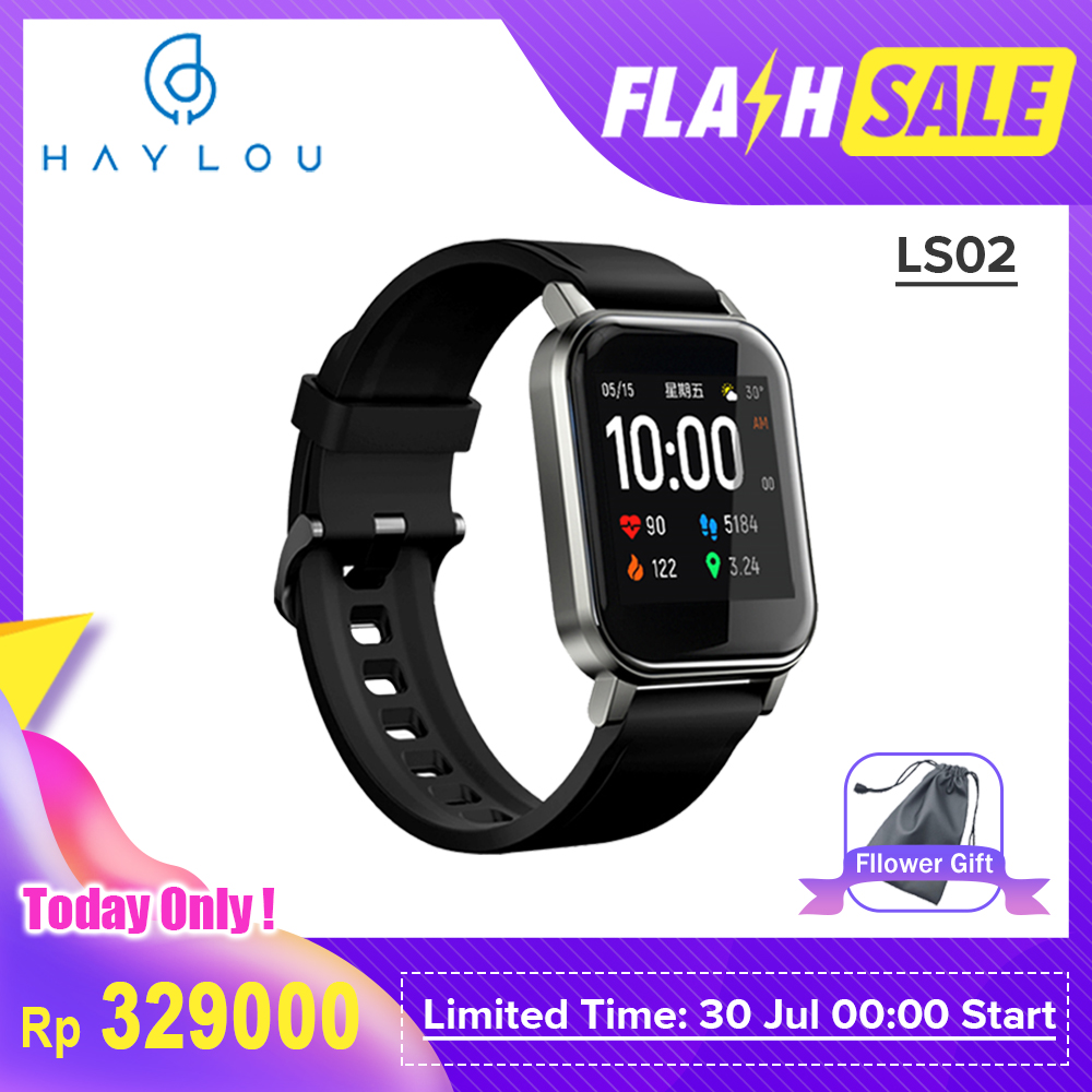 Xiaomi Haylou LS02 Smart Watch | English Version |12 Sport Modes| Health | IP68waterproof|1.3 inch LCD display | LS01 updated version