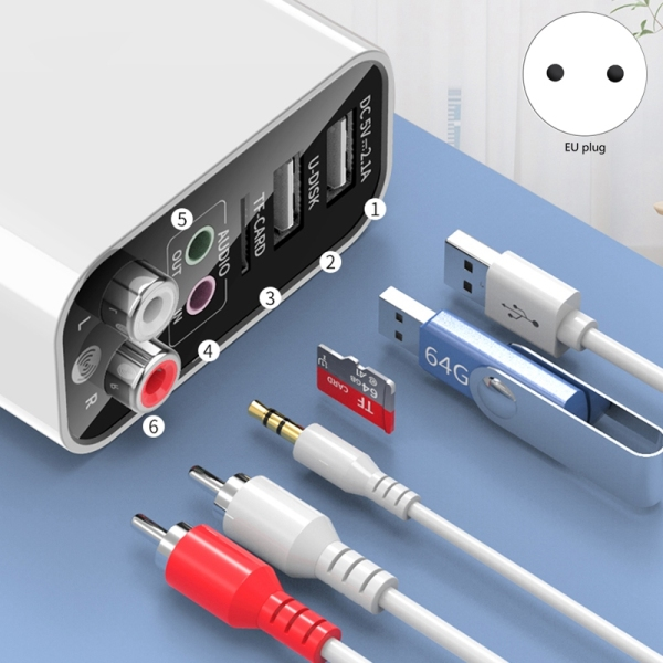 Bluetooth Receiver Transmitter 2-In-1 Bluetooth 5.0 AUX Audio Adapter for TV Headphone Speaker Desktop PC