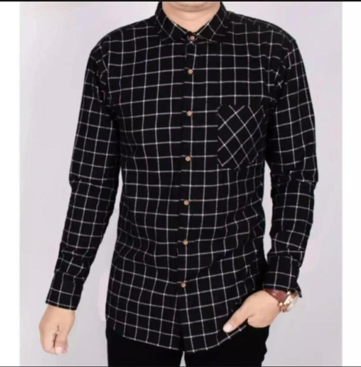 promo Kemeja Flanel Pria Lengan Panjang Kemeja Flannel Cowok Kerja Kantoran Baju Distro Formal Kotak Exclusive Bisa Bayar Di Tempat