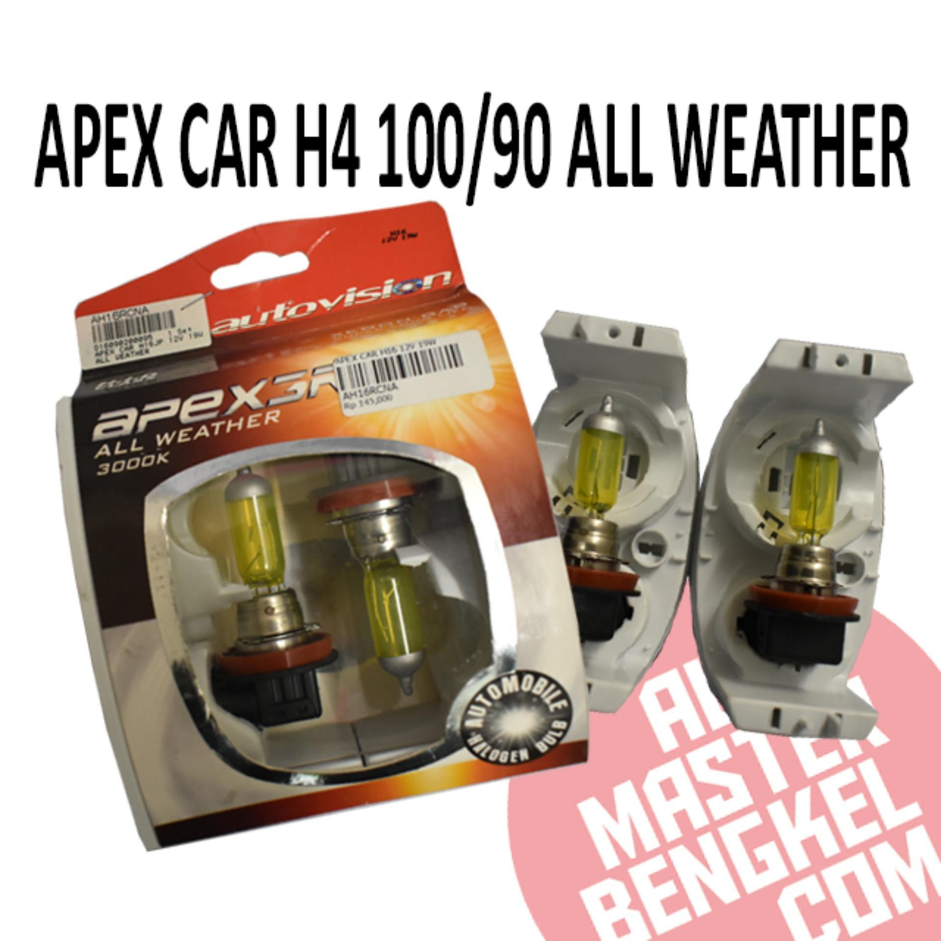 Apex Car H4 100/90 A Weather By Automaster Bengkel