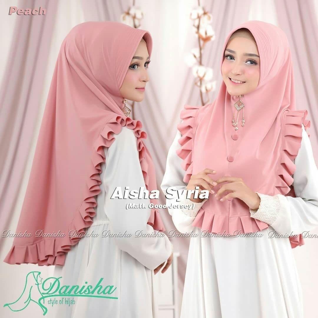 Aishaa Syria Series Pink vanilla hijab / khimar mini / hijab instan / syariygqa / simple pet