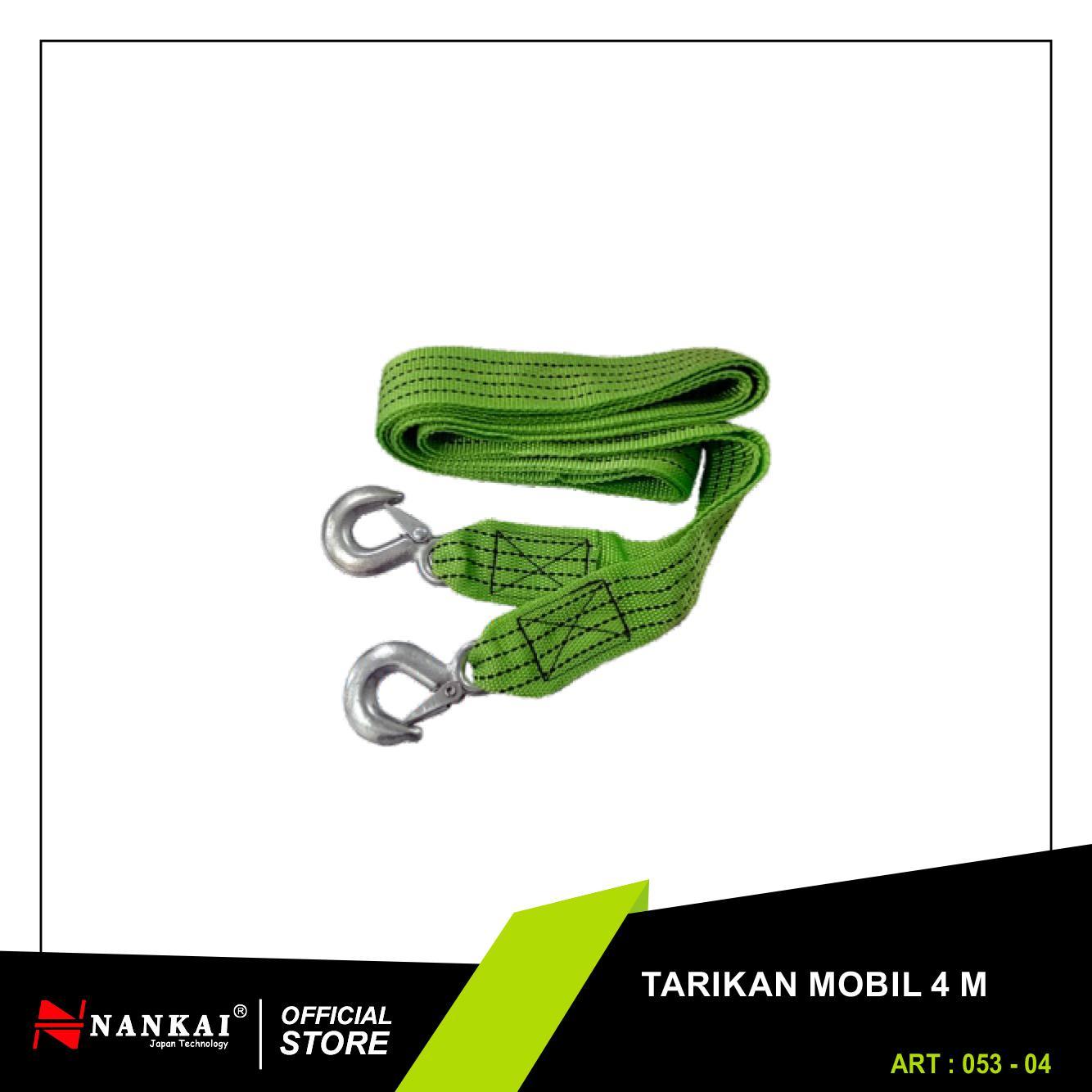 Nankai Tarikan Tali Derek Mobil 4m - Car Towing Rope - Perkakas Tool By Nankaitools.