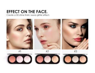 FOCALLURE New Arrival 3 Colors Blush & Highlighter Palette Face Matte Highlighter Powder Illuminated Blush Powder Face Makeup Blusher FA26 thumbnail