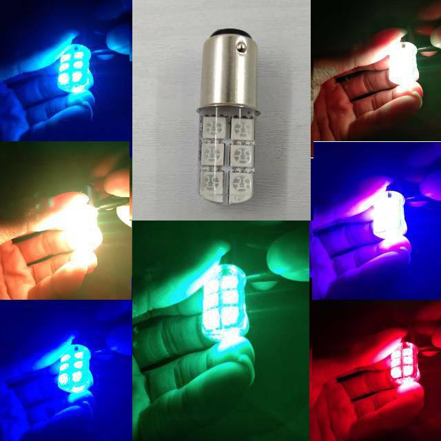 Lampu Stop Rem Belakang Jelly 12 MATA Led Kedip ( 7 WARNA ) / Lampu Rem LED jelly RGB 7 in 1 warna 2 mode strobo stoprem stop rem 12 mata