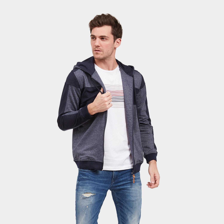 Cressida Nextlevel Color Block Hoodie Jacket Pria A061 - Navy