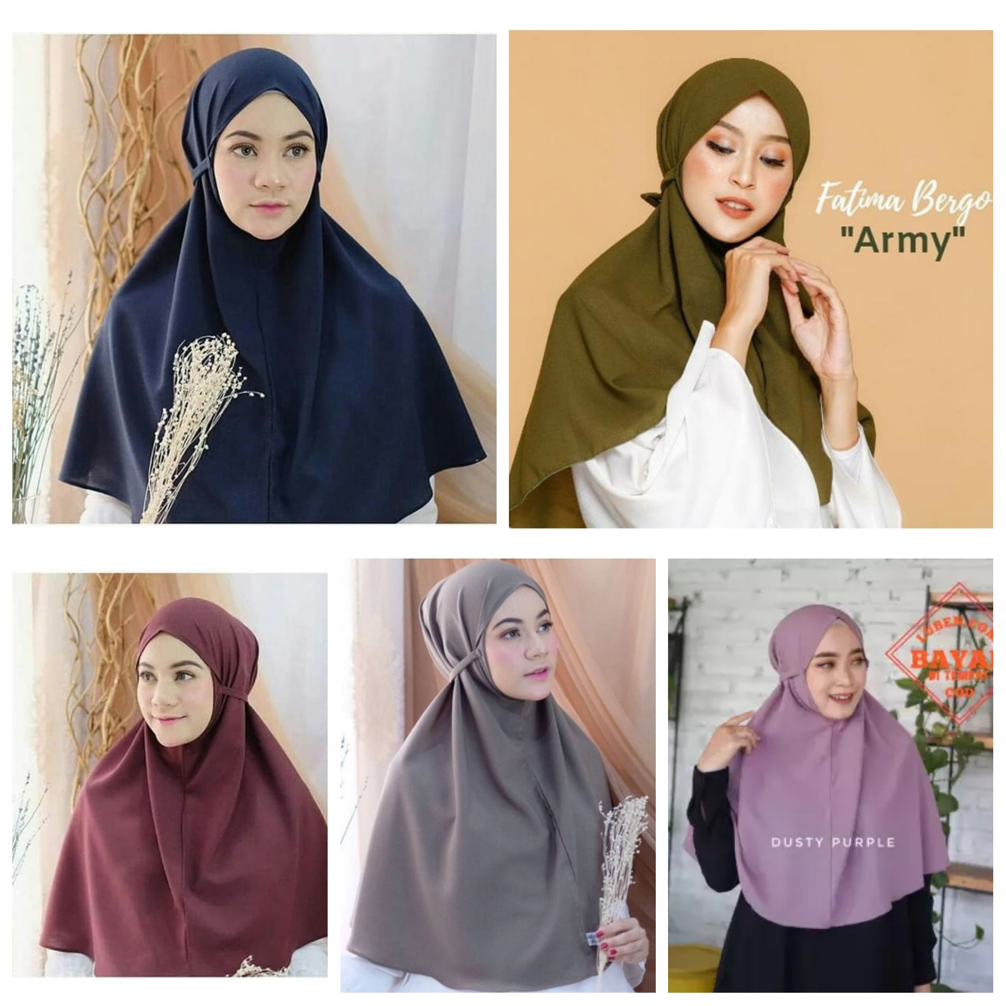 Khimar Hijab Instan Bergo Maryam Tali Non Pet Diamond Hijab Maryam Kerudung Instant Tali Khimar Maryam Tali Kerudung Terbaru 2020 Lazada Indonesia
