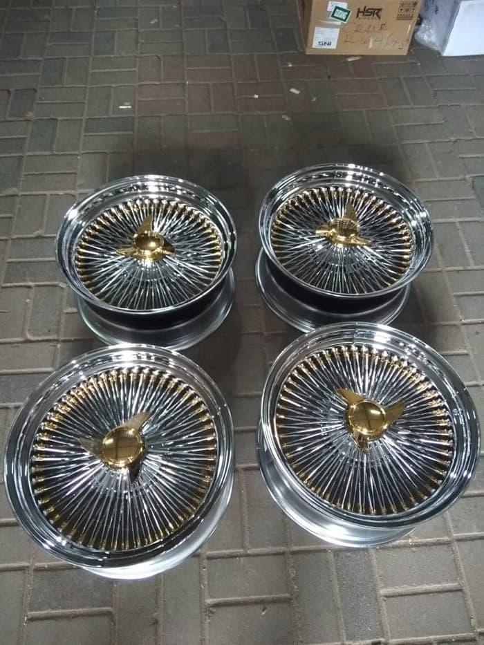 Velg Volvo Mercy BMW Ring 17 Type Clasic Wire Wheel HSR Chrome Gold