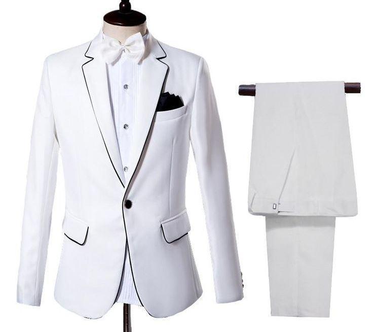 Setelan Jas Pria - Jas Formal New Arrival - Jas Party - Jas Weding - Jas Preweding (Jas+Celana) - Putih
