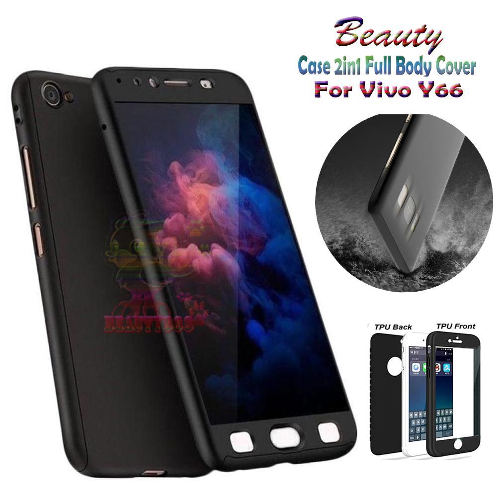 Beauty Soft Case Vivo Y66 Black (2in1) Case Fullbody Cover Vivo Y66 Baby Skin
