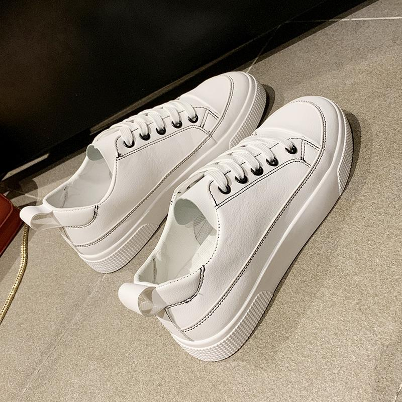 Online Celebrity White Shoes Children 2019 New Style Summer Versatile Sneakers Spring Womens Shoes Ins เสื้อผ้าแฟชั่น Trendy Shoes Flat Athletic Shoes By Taobao Collection.