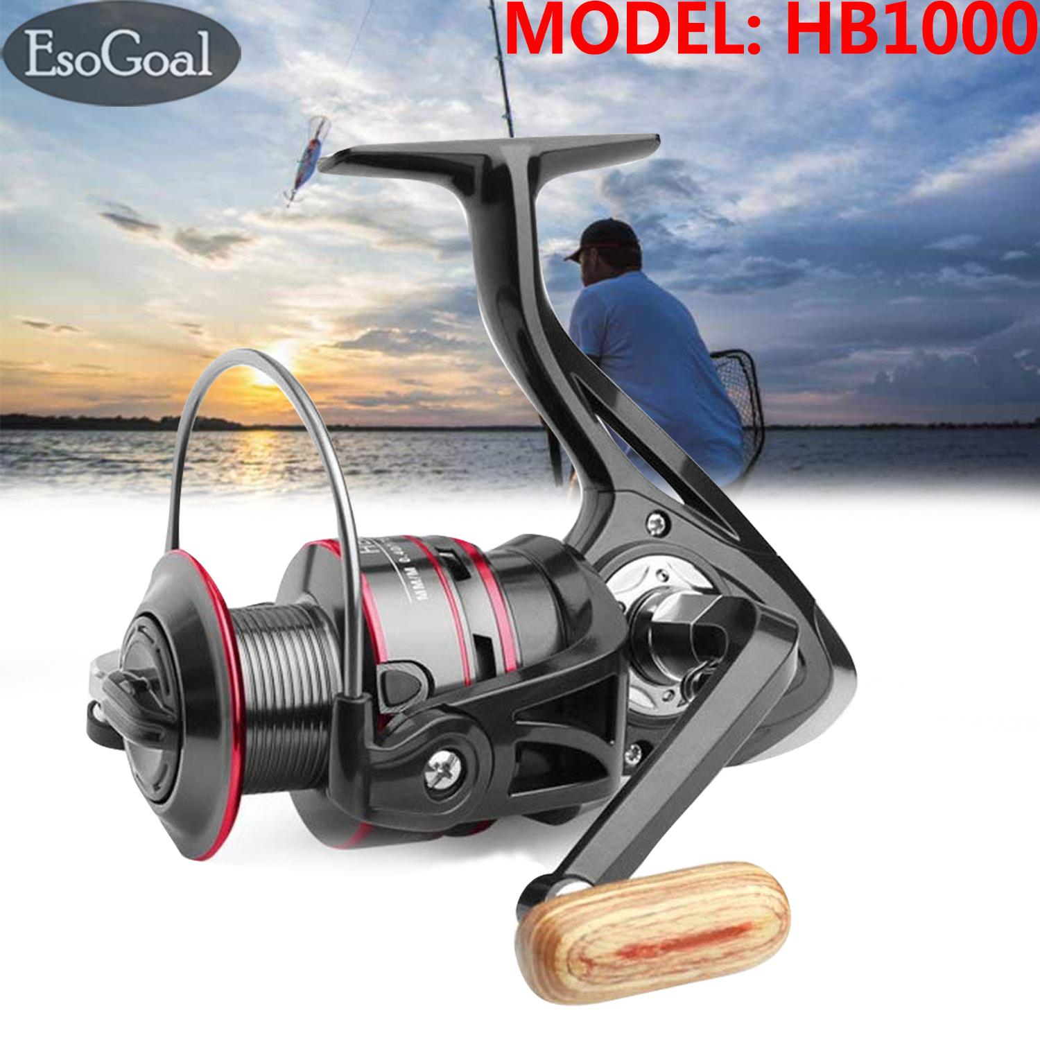 EsoGoal Fishing Reel, 11+1BB, Light Fish Reels and Smooth Powerful Spinning Reel