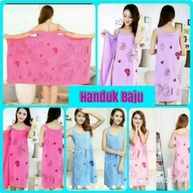 Handuk Dress Handuk Baju Kimono Dewasa By Zevalen.