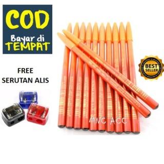 MNC ACC - Viva Pensil Alis - Pencil Eyebrow Viva - Warna Coklat dan Hitam - Bonus Serutan pensil warna warni thumbnail