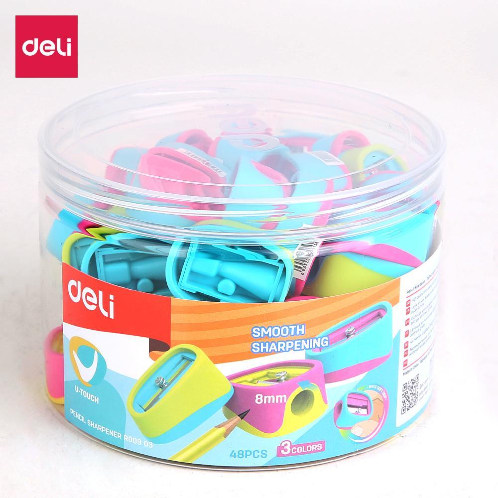 Deli Er00903 1-Hole Sharpener(mix) By Deli Official Store.