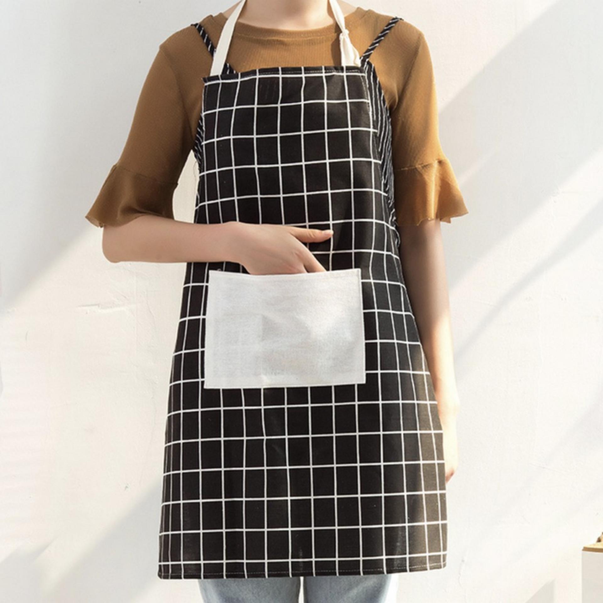 Celemek untuk masak celemek kain katun celemek dapur celemek kain katun apron Celemek Dapur Kotak2