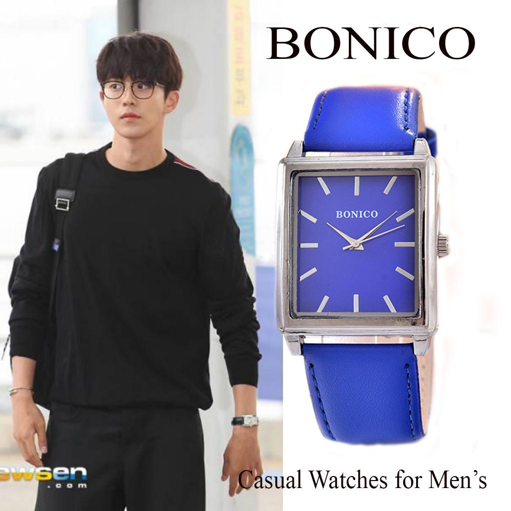 ... JamTangan Pria - Body Rose Gold – White - Dial – Brown Leather Strap – Bonico-3003C-RGW-Brown Leather StrapIDR32000. Rp 34.000