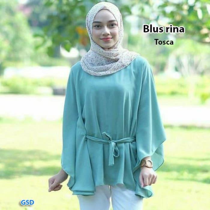 blus rina tosca/atasan wanita/blouse wanita/blus wanita/atasan cewek