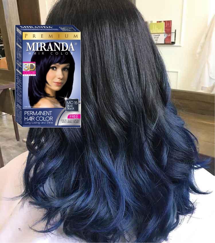 Miranda Premium Hair Color Original 100 Bpom Mc 15 Blue Black Cat Pewarna Rambut Cat Rambut Pikok Semir Rambut Warna Biru Lazada Indonesia
