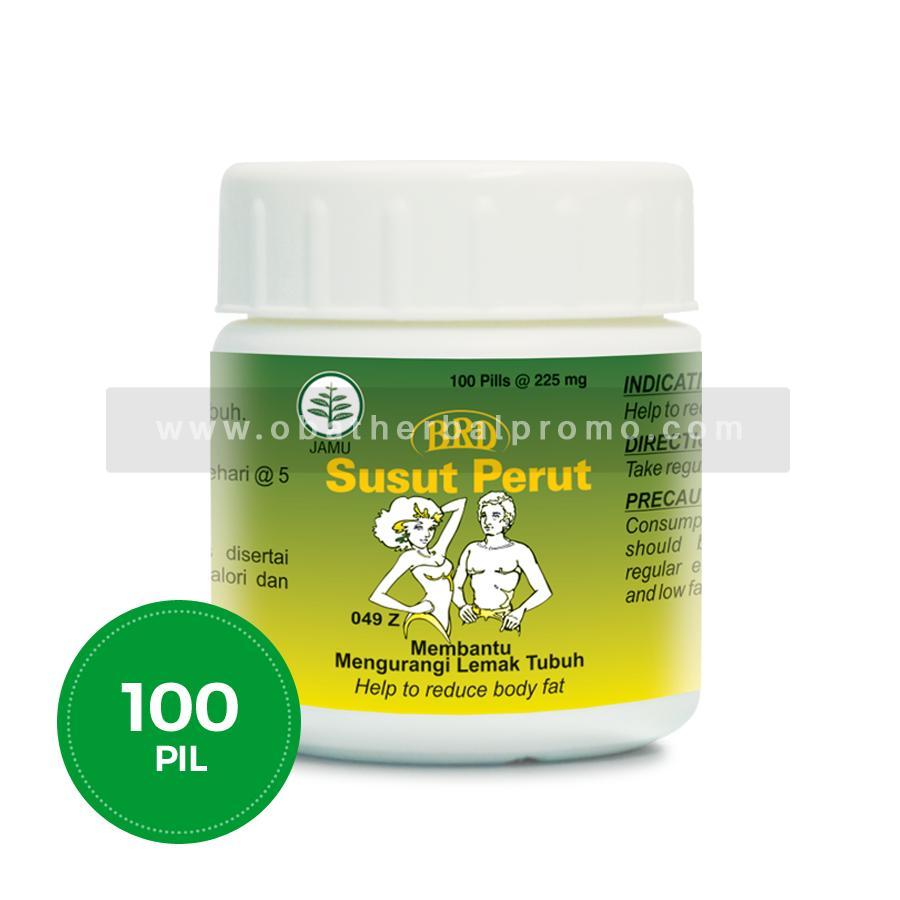Borobudur Herbal Susut Perut 100 Pil Obat Pelangsing dan Diet Alami