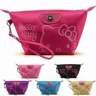 Kosmetik Motif Import Hello Kitty Bordir Plus Tali [50gr] D24 thumbnail
