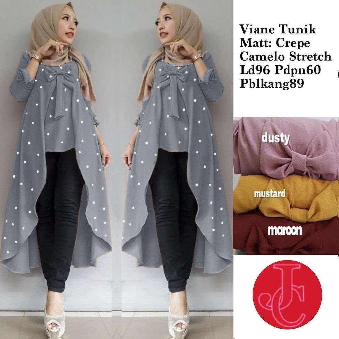 J C Tunik Viane Mutiara   Blouse Tunik   Tunik Muslim   Baju Tunik   Atasan  Tunik b915adf9fd