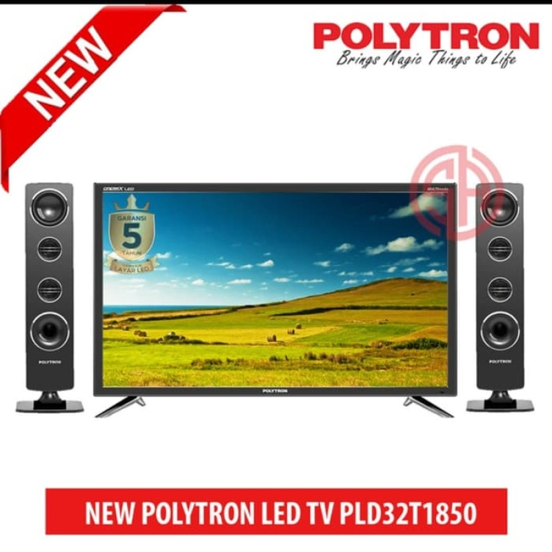 [GRATIS ONGKIR - SURABAYA] Miami Elektronik - LED Polytron 32 Speaker Pld32t1850 Polytron Cinemax Speaker Pld 32t