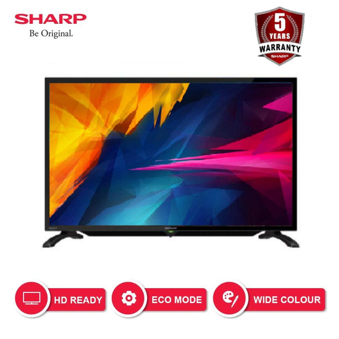 [GRATIS ONGKIR] Sharp 32 inch LED HD USB TV - Hitam (Model 2T-C32BA1i)