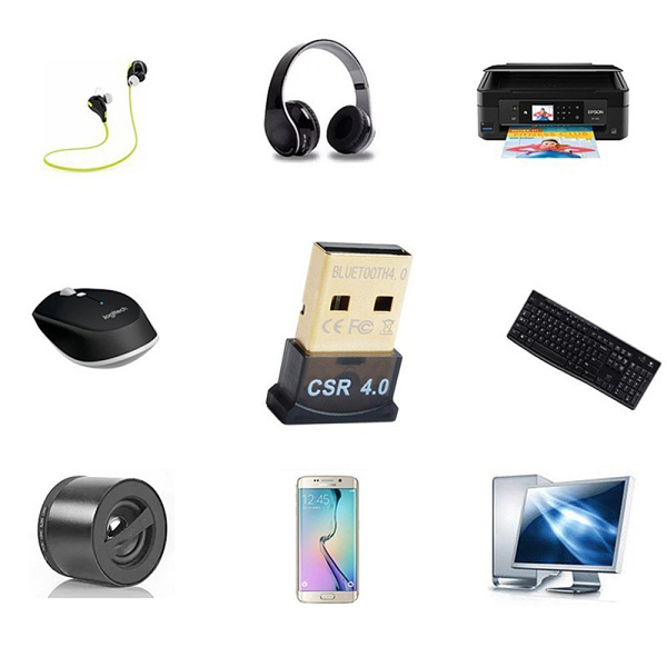 Wireless Usb Bluetooth Adapter 4.0 Bluetooth Audio Receiver CSR4.0 Suitable for Computer PC Laptops