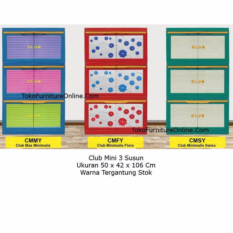 Lemari Rak Plastik Baju Pakaian Serbaguna Tv Lipat Mini Club 3 Susun By Toko Furniture Online.