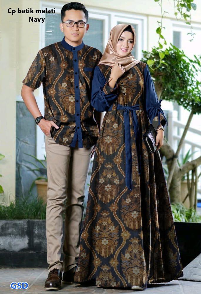 Baju keluarga / baju muslim coupe / baju pasangan / batik couple terbaru / couple ayah dan ibu / Cp batik melati