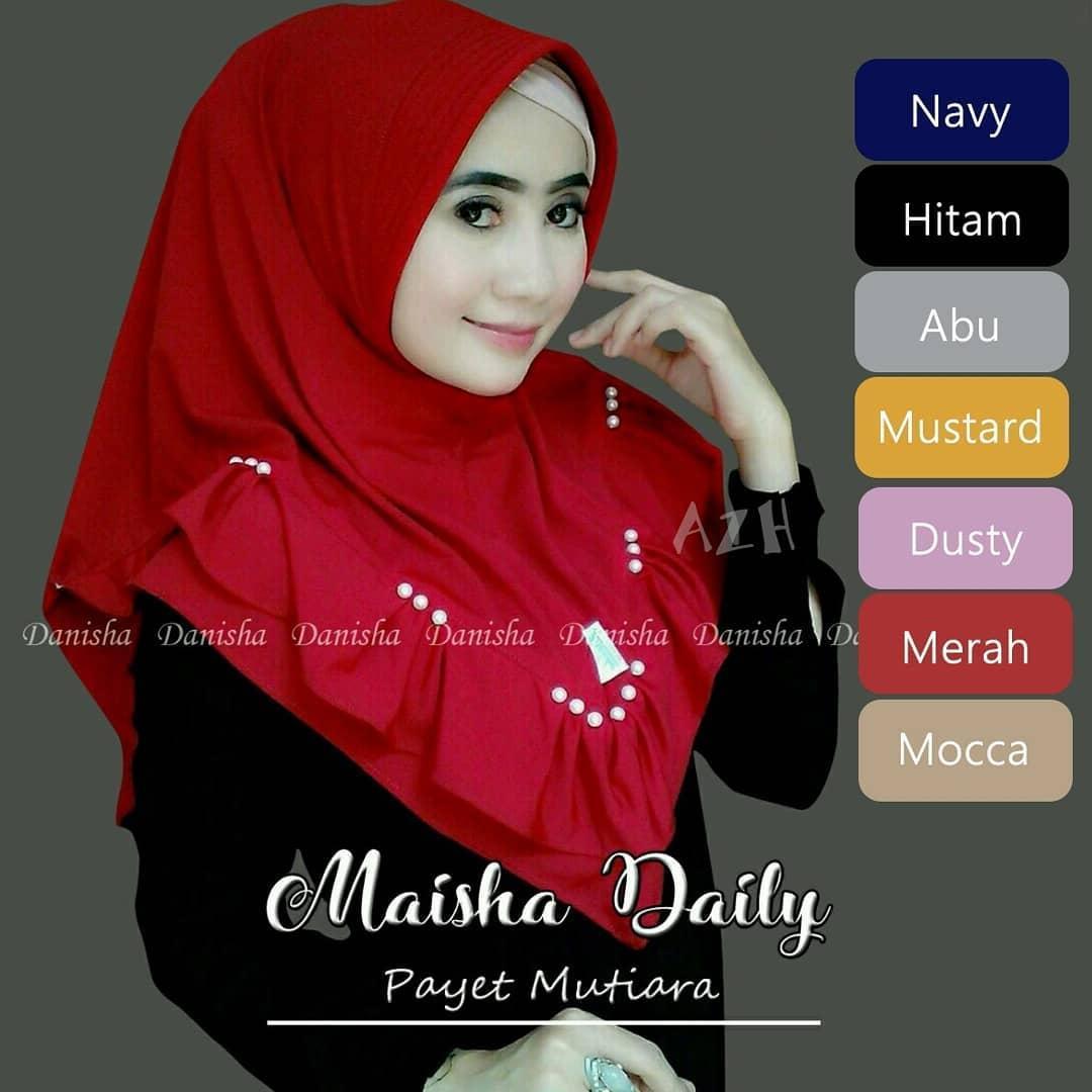 TF PROMO Bisa Bayar di Tempat (COD) Jilbab Murah Maisha Daily Mutiara Hijab Instan Mewah Kerudung Instan Khimar Instan