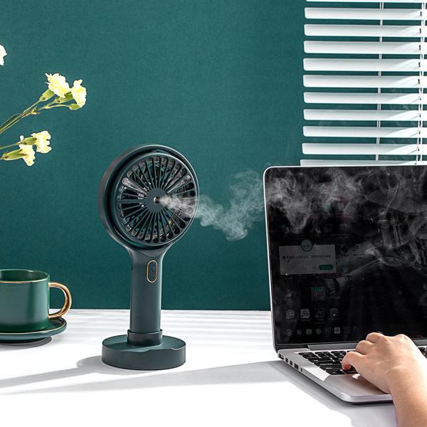 【Wisdhome】 USB Multi-Chức Năng Fan, Với Ánh Sáng Phun, Quạt Cầm Tay Mini Để Bàn Thuốc Đuổi Muỗi