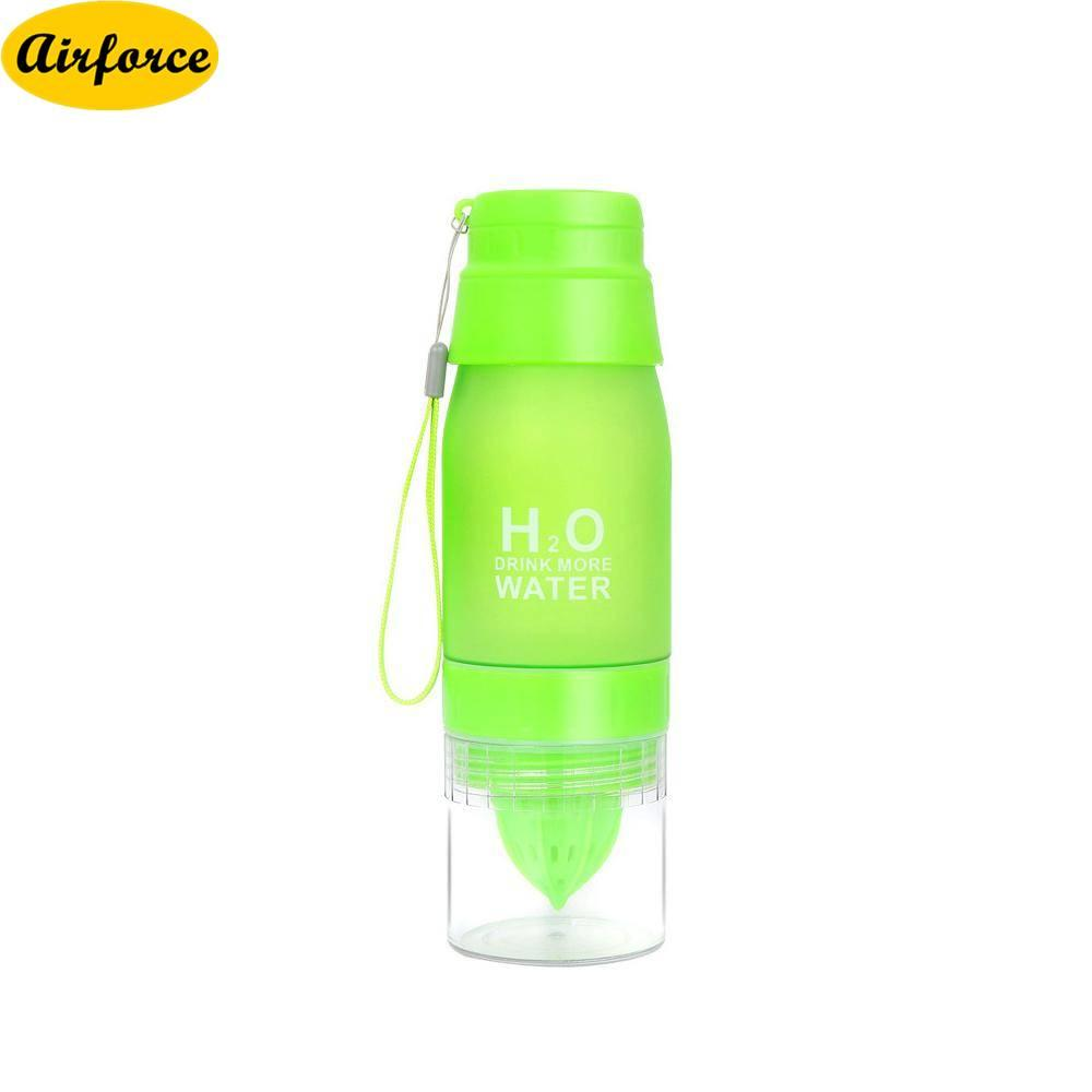 Airforce Flip Lid Fruit Lemon Juice Cup Infusing Infuser Water Health Portable Bottle NEW