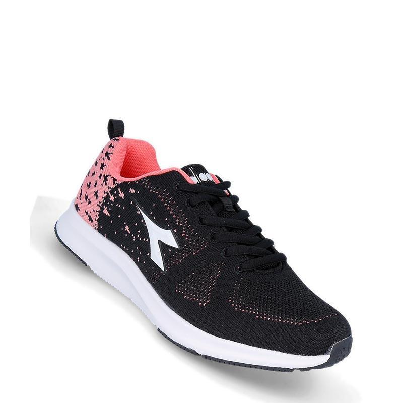 Diadora - Leonardo Sepatu Lari Wanita - Hitam 646d9495ae